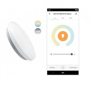 Nymphea LED Smart plafon WiFi CCT DIMM sterowany telefonem